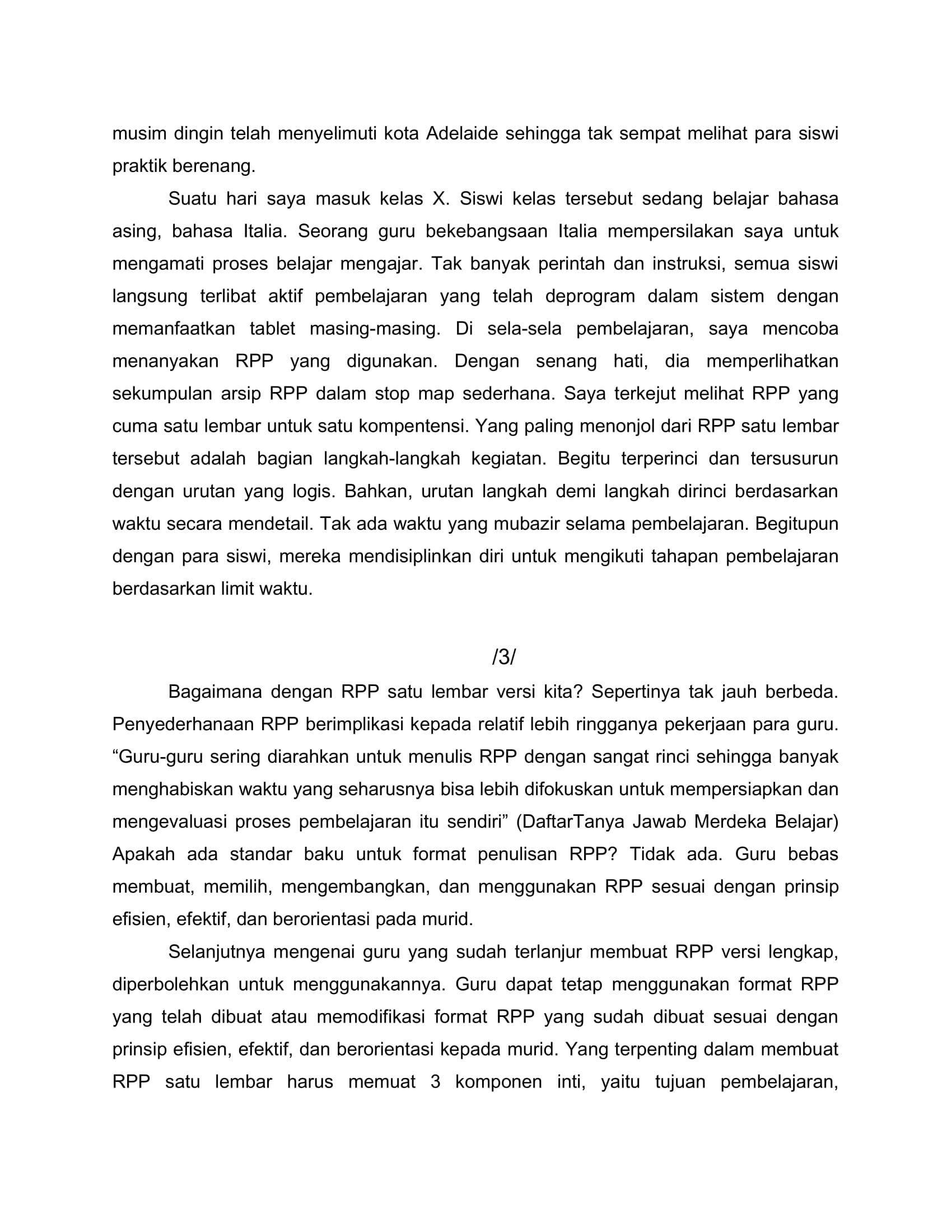 SEKALI LAGI MENYOAL RPP SATU LEMBA1-3
