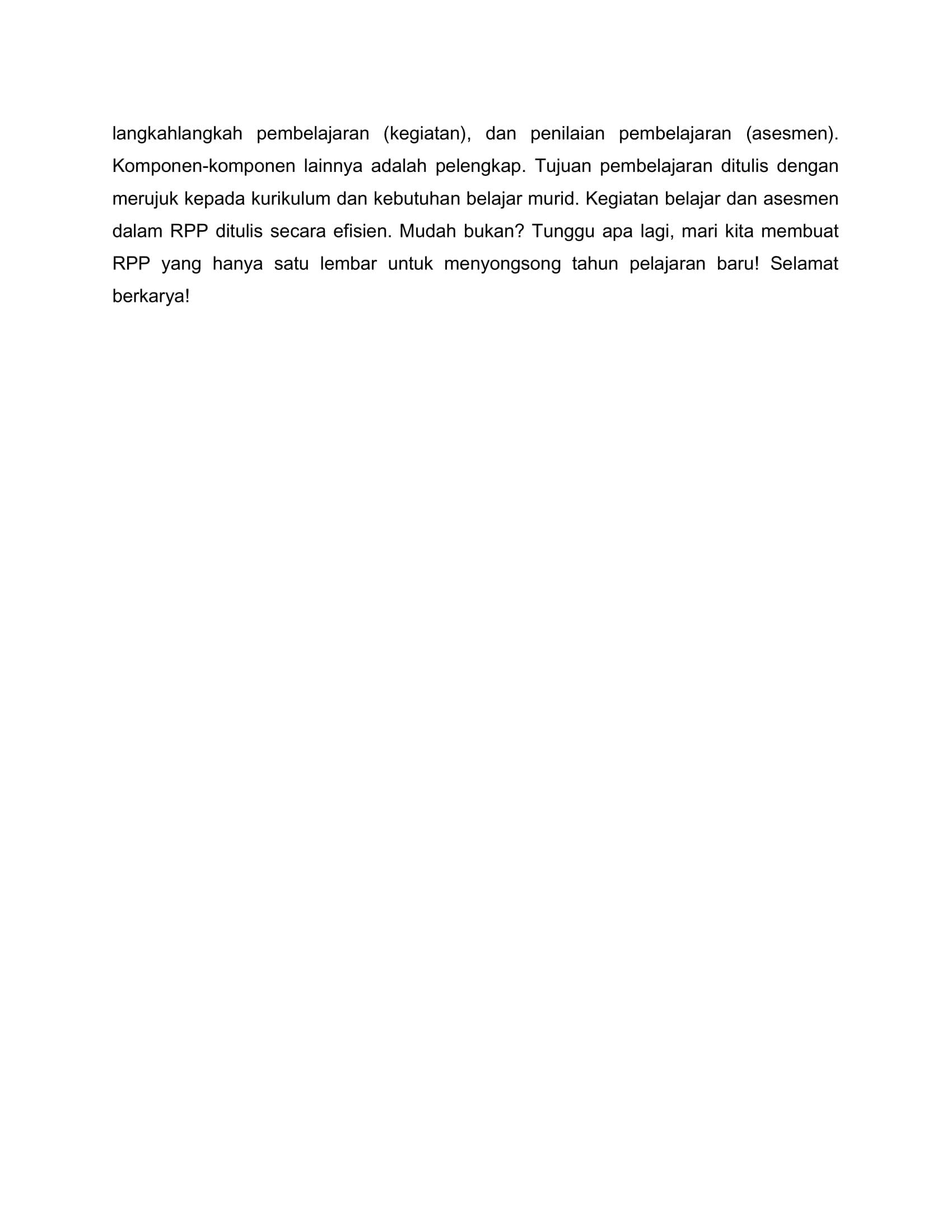 SEKALI LAGI MENYOAL RPP SATU LEMBA1-4